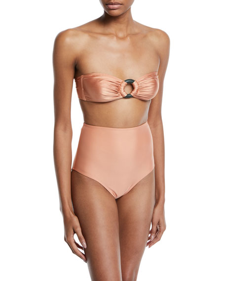 Agua de Coco Cruzeiro O-Ring Bandeau Bikini Swim Top