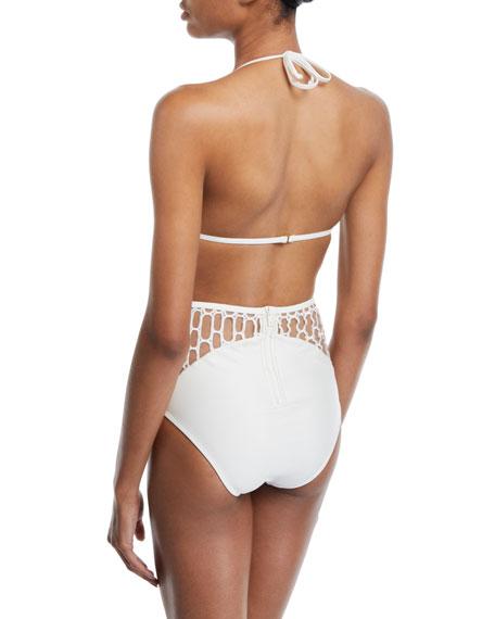 Agua de Coco Atlantica Mesh Triangle Bikini Swim Top