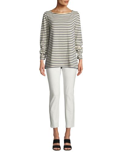 Seaside Striped Organic Cotton Sweater and Matching Items  Petite