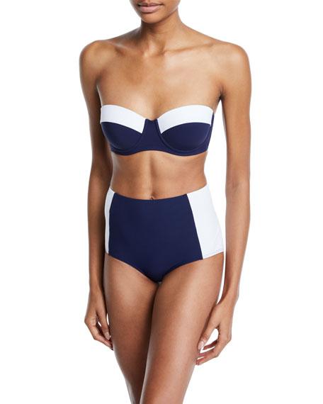 Tory Burch Lipsi Colorblock Underwire Bikini Swim Top