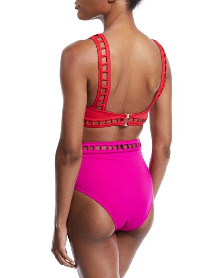 OYE Swimwear Ela Cutout Bikini Swim Top