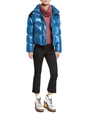 69b5ca08c67f Moncler Moncler Genius Chouette Puffer Jacket w  Contrast Shoulders Moncler  Genius Ciclista Mohair Pullover Turtleneck
