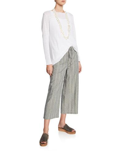 Organic Linen Long-Sleeve Tunic