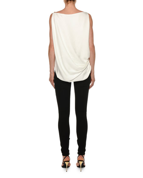TOM FORD Draped Sleeveless Tie-Side Blouse