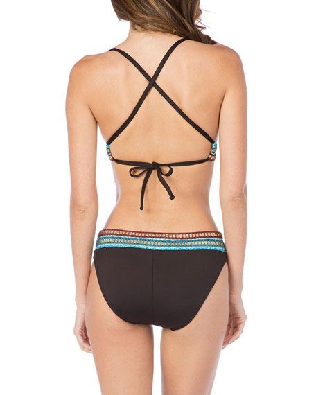 La Blanca Strappy Stitched Triangle Bikini Top