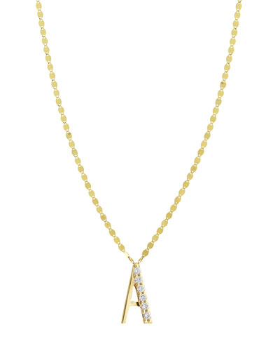 Get Personal Initial Pendant Necklace with Diamonds and Matching Items