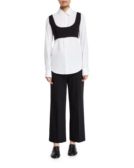 THE ROW Pete Button-Front Cotton Shirt