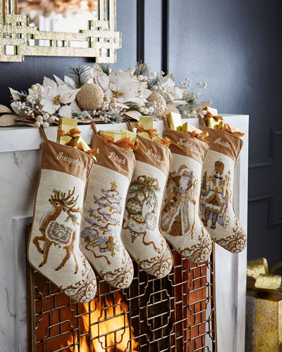 Ornaments Needlepoint Stocking and Matching Items