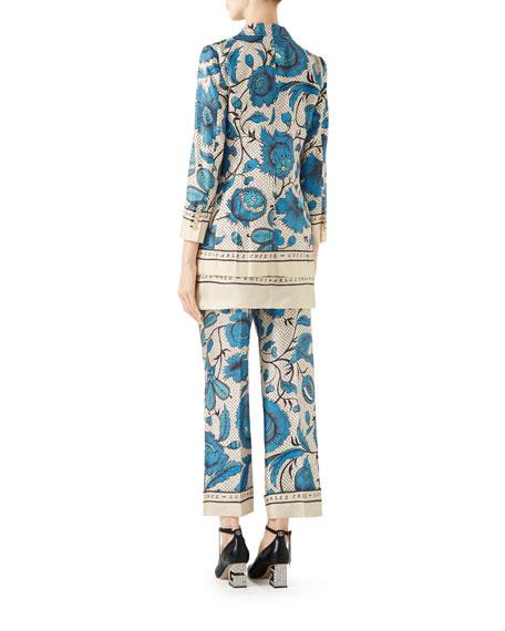 Gucci Silk Watercolor Floral Jacket