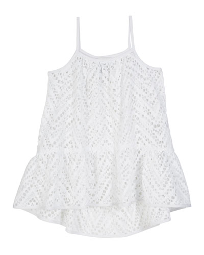 Chevron Crochet High-Low Coverup, Size 4-6  and Matching Items