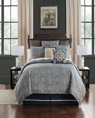 Asher Reversible 4-Piece King Comforter Set  and Matching Items