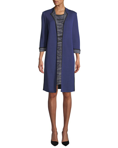 3/4-Sleeve Long Jacket  and Matching Items