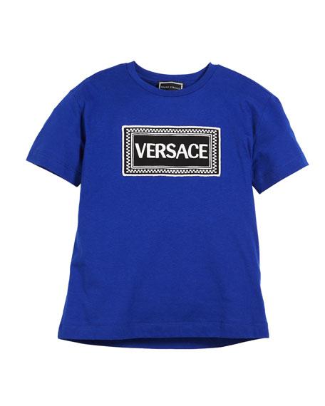 Versace Short-Sleeve Logo Tee, Size 4-6