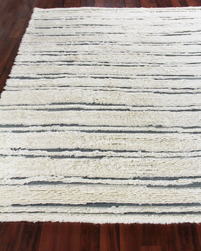 Romon Hand-Knotted Rug, 6' x 9' and Matching Items