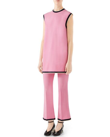 Gucci Sleeveless Light Stretch Cady Tunic Top