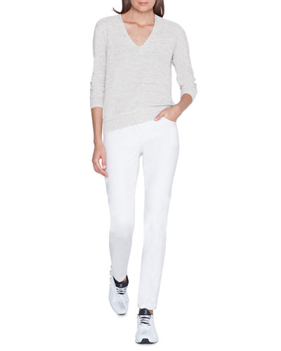 Sequined Linen-Cotton V-Neck Sweater and Matching Items