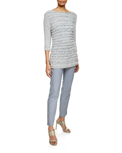 Sea Level Fringe-Striped Blouse  Petite and Matching Items