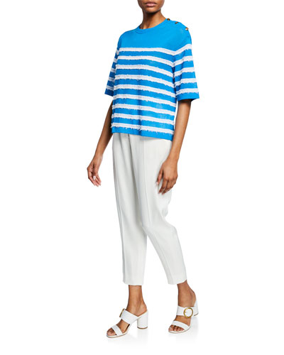Sailor-Striped 1/2-Sleeve Top and Matching Items