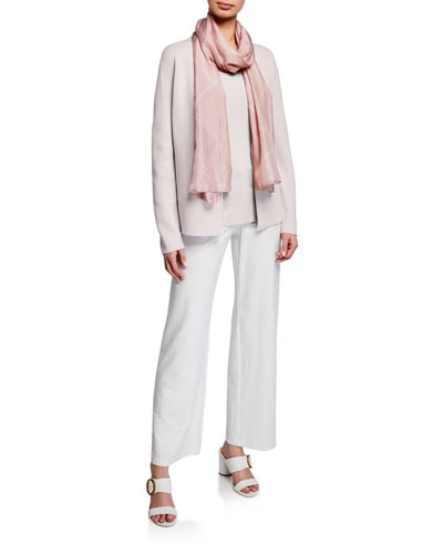 Shaped Silk/Organic Cotton Cardigan and Matching Items