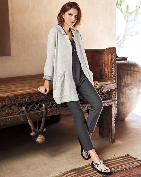Eileen Fisher Petite Textured Boxy Jacket
