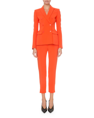 Flat-Front Cropped Classic Pants and Matching Items