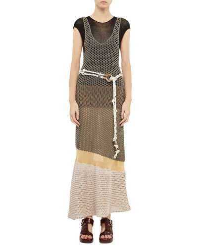 Short-Sleeve Mesh Tiered Maxi Dress and Matching Items