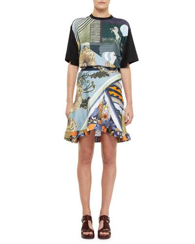 Silk Caravan Print A-Line Skirt and Matching Items
