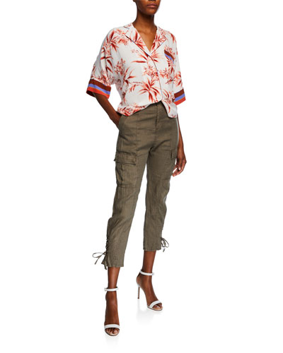 Bayley Floral-Print Button-Down Top and Matching Items