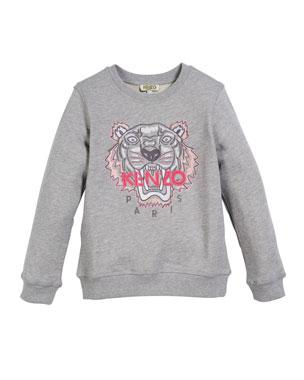 db0a7b62 Kenzo Tiger Face Sweatshirt, Sizes 5-6 Tiger Face Sweatshirt, Sizes 8-