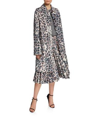 bfb9f4ee7975f CALVIN KLEIN 205W39NYC Animal-Print Balmacaan-Like Coat Sleeveless Slash- Neck Sweater Animal