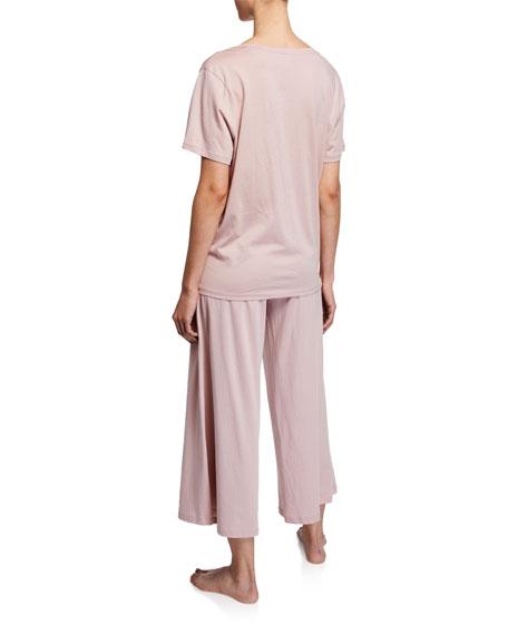 Skin Sian V-Neck Short-Sleeve Cotton Tee