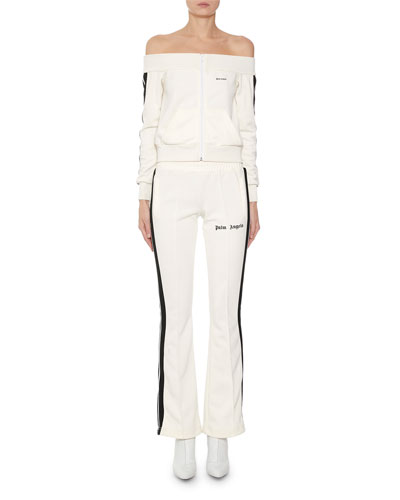Side-Striped Skinny Logo Track Pants and Matching Items