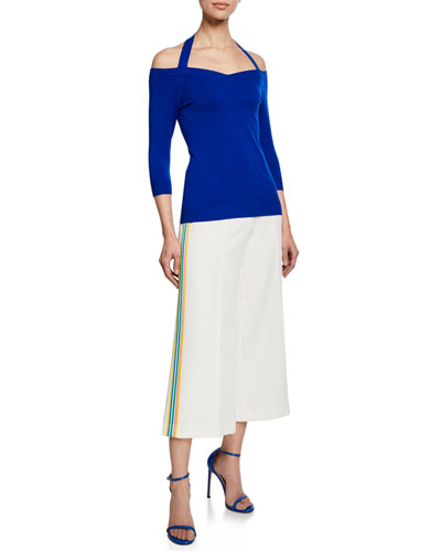 Meghan Off-the-Shoulder Halter-Neck Top and Matching Items