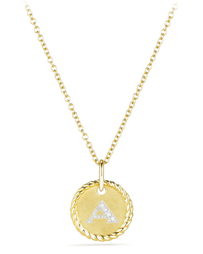Initial S Cable Collectible Necklace with Diamonds and Matching Items