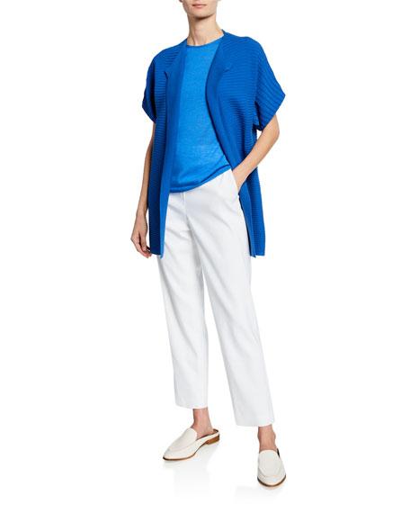 St. John Collection Engineered Rib Knit Dolman-Sleeve Cardigan