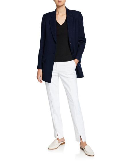 St. John Collection Sarga Knit Twill Jacket w/ Flap Pockets