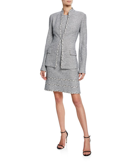St. John Collection Open-Front Tweed Jacket