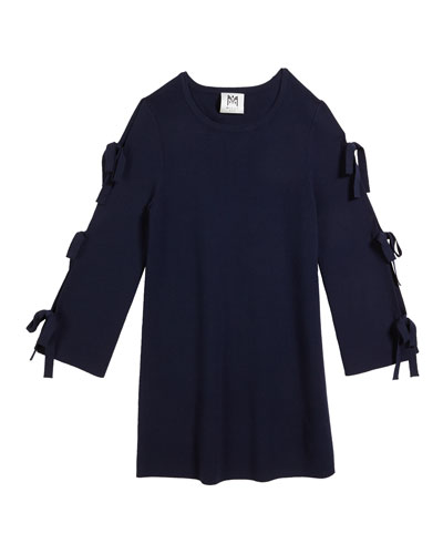 Tie-Sleeve Knit Shift Dress  Size 2T-6  and Matching Items