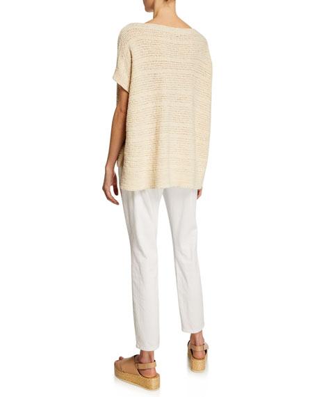 Eileen Fisher Tape-Knit Organic Cotton Sweater