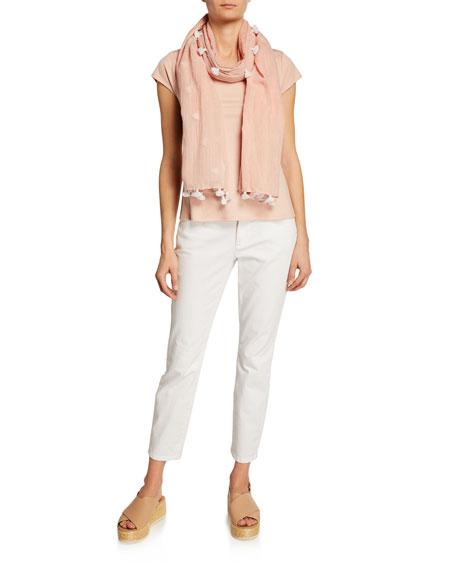 Eileen Fisher Plus Size Organic Cotton Stretch High-Waist Skinny Jeans