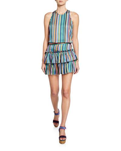Marie Rainbow Stripes Halter Tank and Matching Items