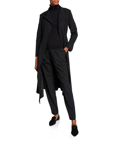 Asymmetric Envelope Duster Coat and Matching Items