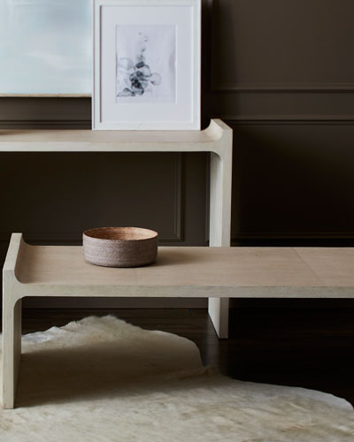 Hollis Faux-Shagreen Console  and Matching Items
