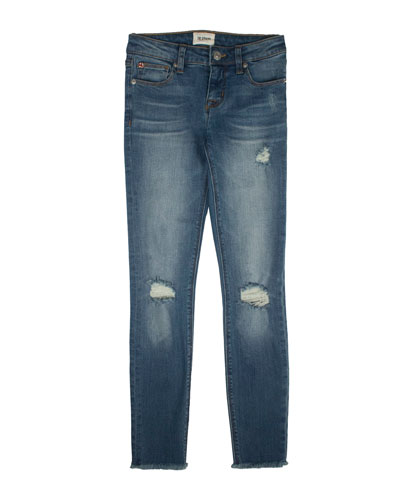 Girls' Christa Distressed Release-Hem Skinny Jeans  Size 7-16  and Matching Items