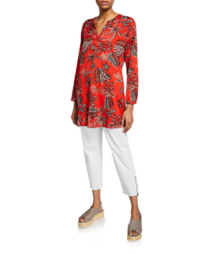 Geanna Floral Print Henley Tunic and Matching Items