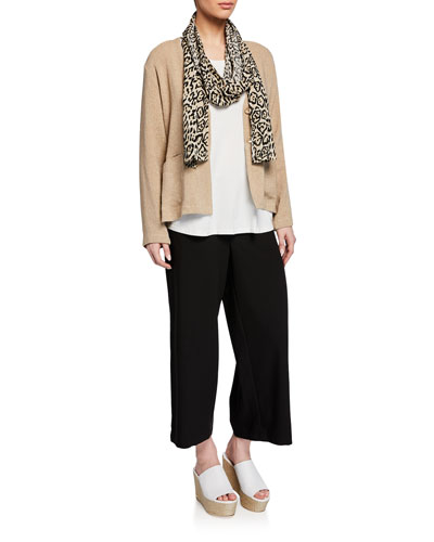 Jaca Button-Front Long-Sleeve Boucle Cardigan and Matching Items