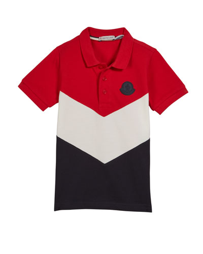 Tricolor Short-Sleeve Polo Shirt  Size 4-6  and Matching Items