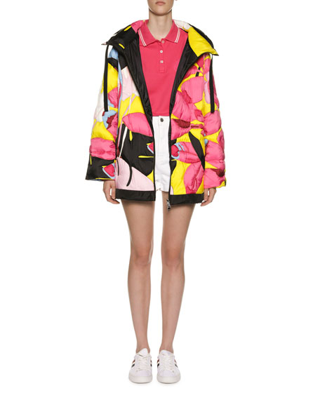Moncler Dili Jacket w/ Detachable Hood