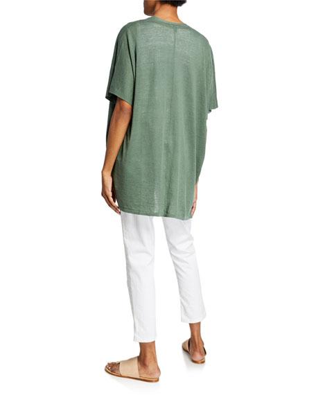 Eileen Fisher Organic Linen/Cotton Short-Sleeve Cardigan