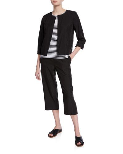 Sandwashed Long-Sleeve Short Jacket and Matching Items